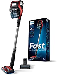 Philips Speed ProMax Stick Vacuum Cleaner FC6823/61, Twist Red, Fastest Cordless cleaning experience, 360° Suc