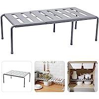 Étagère de rangement extensible pour cuisine, salle de bain, maquillage, bureau, grille peut se vider – Gris