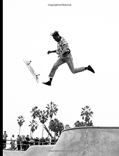 """LA Skate Composition Book: 200 pages college ruled line paper Composition Notebook 7.44"""" x 9.69"""" por Moonbow press"""