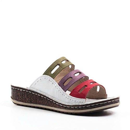 Summer New Simple Sandals Female Code Color Famous Family Style Large Size Female Sandals and Slippers