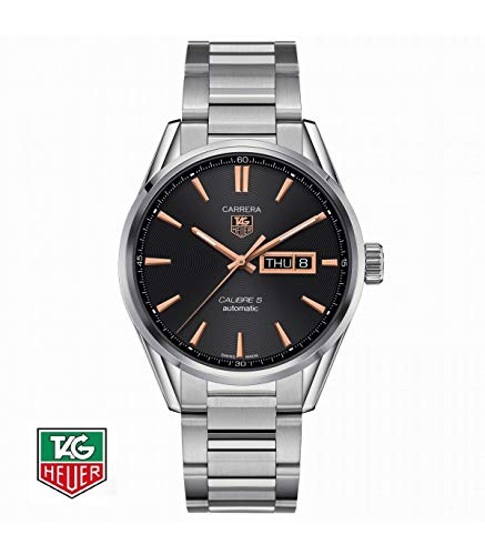 TAG Heuer orologio Carrera Calibre 5 Day-Date 41mm automatico acciaio WAR201C.BA0723