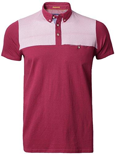 Threadbare Herren Poloshirt X-Large Burgunderrot