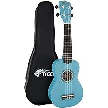Tiger UKE7-BL - Ukelele soprano para principiantes, color azul