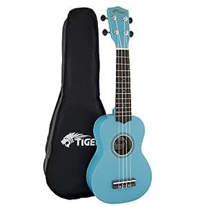 tiger music beginner soprano ukulele with bag blue musical instruments. Black Bedroom Furniture Sets. Home Design Ideas