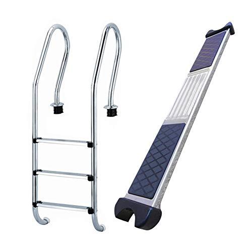Escalera peldaños, Escalera de Recambio de Acero Inoxidable para Piscina