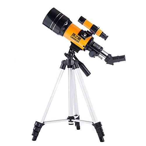 S-AIM Astronomie-Teleskop, für Kinder und Jugendliche Einsteiger-Reiseteleskop, 300 / 70mm Handy-Clip Sonnenfilter-Reiserefraktorteleskop