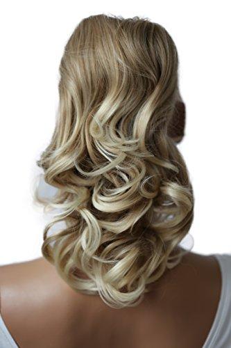 PRETTYSHOP 40cm Haarteil Zopf Pferdeschwanz Haarverdichtung Haarverlängerung VOLUMINÖS blond mix #27T613 PH4a