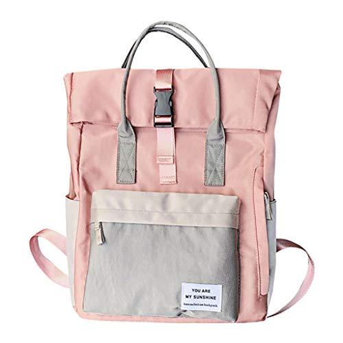 TriLance Einschulung und Schulanfang - Mode Unisex Druck Schnalle Rucksack Große Kapazität Taschen Paket Umhängetasche Gedruckt Oxford Tuch große Kapazität Schultasche Handtasche
