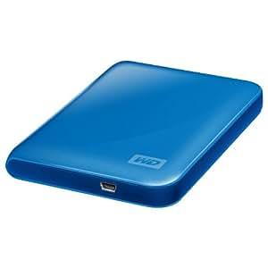 Western Digital My Passport Essential 500GB USB 2.0 Portable External Hard Drive - Light Blue