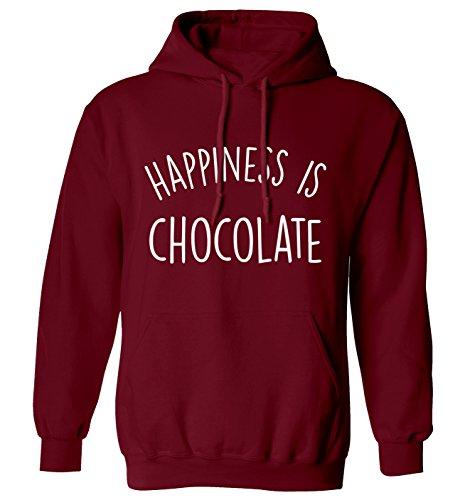 Glück ist Schokolade Hoodie XS–2X L Gr. Large, kastanienbraun (Adult Chocolate Bar)