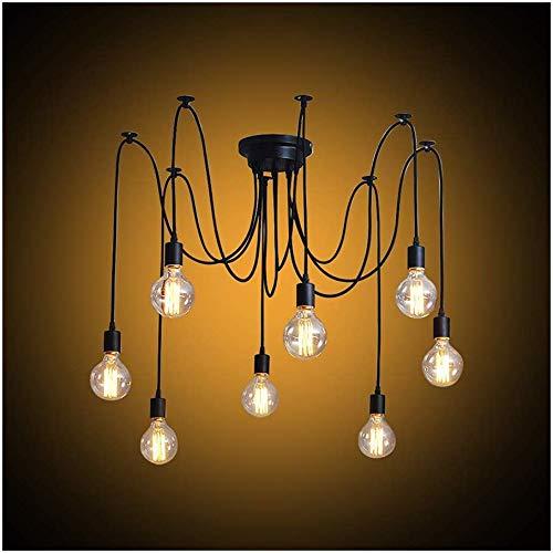 Modrad Kronleuchter Spinne Lampe Vintage Retro Hängend Lampen Industrial Pendelleuchte für Küche Schlafzimmer und Hotel Dekoration (8 Köpfe)