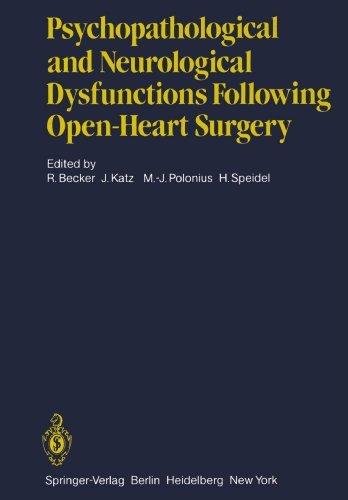 Psychopathological and Neurological Dysfunctions Following Open-Heart Surgery (1982-01-01)