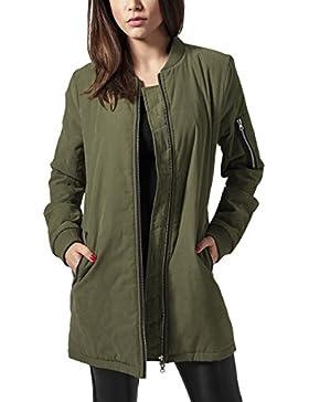 Urban Classics Ladies Peached Long Bomber Jacket, Chaqueta para Mujer
