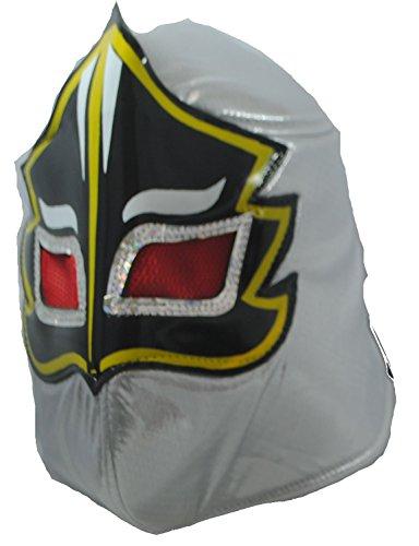 Fair Trade echte mexikanische Wrestling-Maske Nacho Libre! Wählen Sie aus 5 Designs (Silver Ghost)