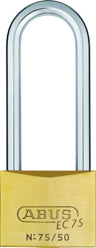 ABUS 26851 80 mm Langem Bügel Messing Vorhängeschloss mit 7562, Wendbar, Gleichschließend