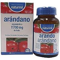 Naturmil Arándano rojo 60 capsulas 11.700 mg + Vitamina C por capsula ALTA CONCENTRACIÓN potente,