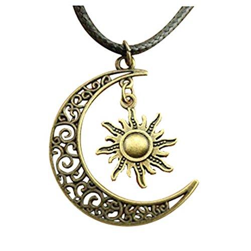 crescent-moon-sun-star-leder-kette-halskette-new-fashion-frauen-schmuck-halskette