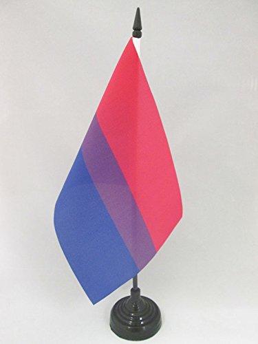 TISCHFLAGGE BISEXUELLEN 21x14cm - BISEXUALITÄT TISCHFAHNE 14 x 21 cm - flaggen AZ FLAG