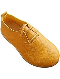 Tenthree Zapatos Vestir Planos Niña - Mocasines Ocio Zapatos de Cuero Niños Cabeza Redonda Suave Sandalias