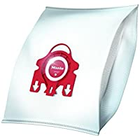 Miele 9917710 Miele Staubbeutel F/J/M HyClean 3D, Inhalt: 4 Staubbeutel FJM, 1 Air Clean Abluftfilter für saubere Raumlauft, 1 Motorschutzfilter, rot