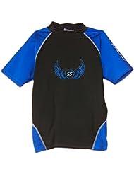 Zunblock Adulte Anti-UV - Camiseta de natación para niño, color negro