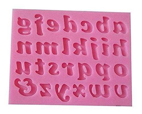 Inception Pro Infinite Molde de Silicona para Uso Artesanal de Letras Minúsculas del Alfabeto