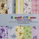 Shopaholic Beautiful FLower Craft papers...