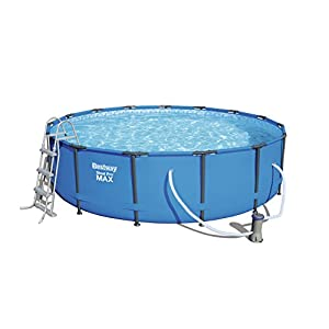 41XThJLzNdL. SS300  - Bestway Steel Pro MAX Swimming Pool Set, 14970 liters, Blue, 15 ft x 42-Inch/4.57 x 1.07 m