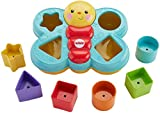 Fisher-Price Butterfly Shape Sorter, Baby Shape Sorter Toy with Different Colours and Shape Blocks, 6 Months Plus