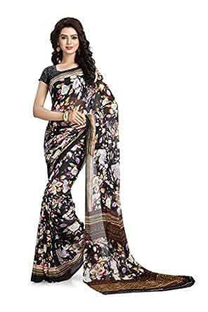 Vaamsi Chiffon Saree (Rc3200_Black)