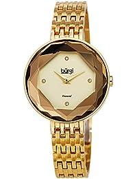 Burgi BUR253 - Reloj de Pulsera para Mujer, diseño de 4 marcadores de Diamante con