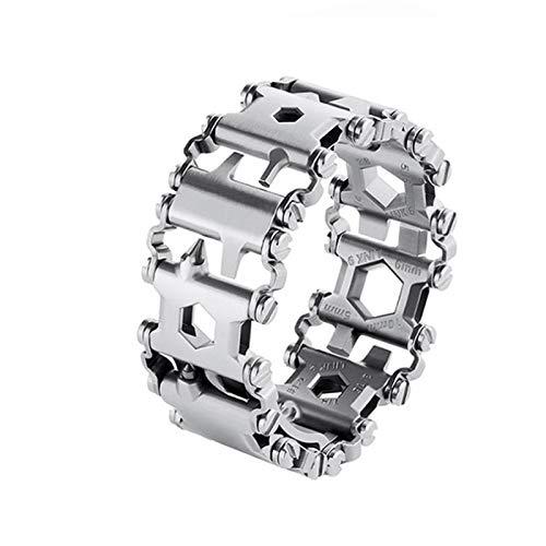 ASOSMOS Multifunktionsarmband Tragbares Armband-Schraubendreher-Werkzeug aus Edelstahl für Segelreisen