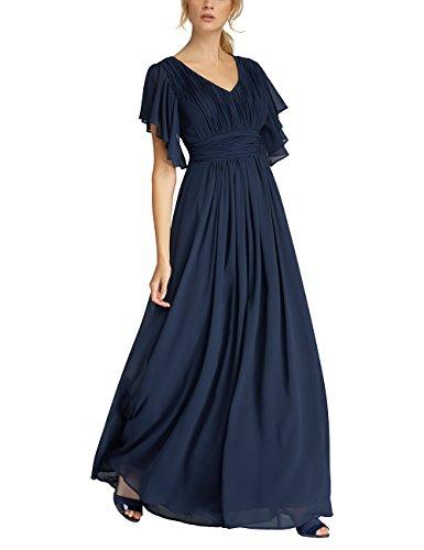 APART Fashion Damen Partykleid 53021, Blau (Midnightblue), 36