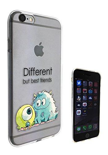 c0038 - Cool Fun Monsters Different But Best Friends Design Pour iphone 5 5S Protecteur Coque Gel Rubber Silicone protection Case Coque, coques iphone