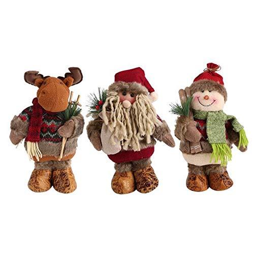 Gaddrt Weihnachtspuppe 3pcs Feiertags-Dekoration scherzt Geburtstags-Geschenk handgemachte Puppe