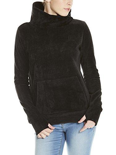 Schwarze Fleece-sweatshirt (Bench Damen HER. Overhead Fleece Funnel Sweatshirt, Schwarz (Black Beauty Bk11179), Medium)