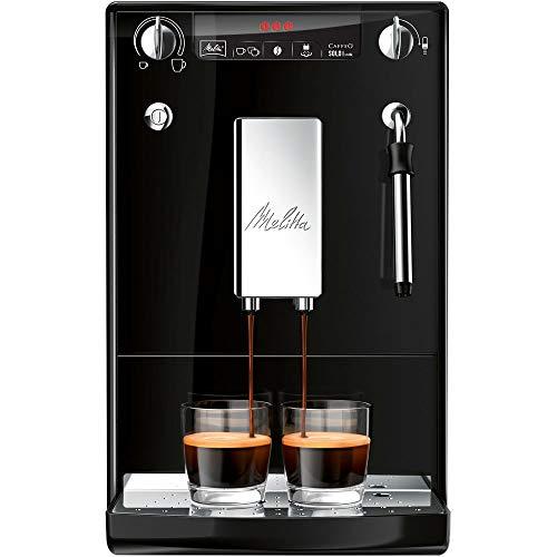 Melitta Caffeo Solo & Perfect Milk E957-101 Schlanker Kaffeevollautomat mit Auto-Cappuccinatore   Automatische Reinigungsprogramme   Automatische Mahlmengenregulierung   Schwarz - 2 Milch-schlauch 1