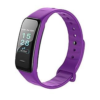 YMGR Reloj Deportivo, Reloj Inteligente Pantalla A Color Pulsera De Uso Inteligente Tecnología Bluetooth Contador De Pasos Deportivos Soporte Impermeable Sistema Android E iOS, Púrpura