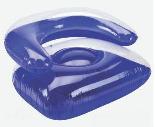 Sessel aufblasbar Poolsessel Lounge Sofa Luftsessel Sitzsack Luftmatratze blau -