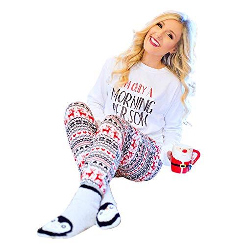 TEBAISE Weihnachtspullover Damen Lange Ärmel Hoodie Baumwolle Mischung Sweatshirt Pullover Casual Kapuzen Pullover