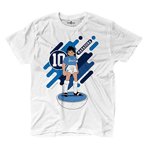 KiarenzaFD Camiseta Fútbol Manga Maradona Napoli Legend Captain Tsubasa
