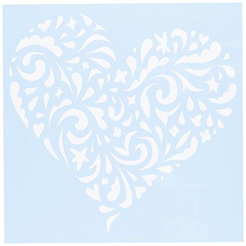 Unbekannt Klar spülreste Schablonen 6x 6Swirl Herz