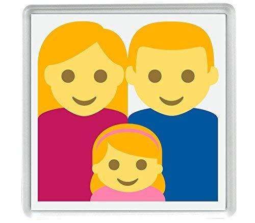 Sheeshai Family (Mann, Frau, Mädchen), Emoji, 58 mm x 58 mm