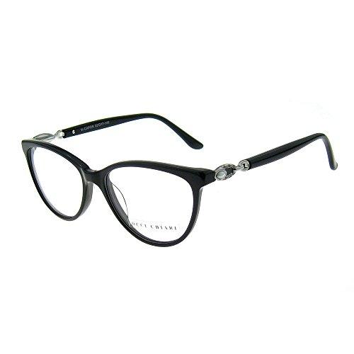 OCCI CHIARI W-COCORO Ovale Occhiali da vista montatura con cerniera a molla e lenti chiare per donna (viola 51MM) SJKtFnA6