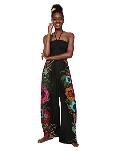 Desigual Damen Dress Swimwear Dalila Woman Black Jumpsuit, Schwarz (Negro 2000), X-Large