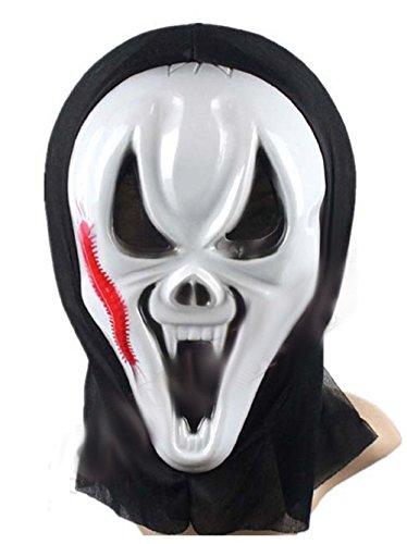 Kostüm Günstige Assassin - Inception Pro Infinite Maske für Kostüm - Verkleidung - Karneval - Halloween - Monster - Assassine - Weiße Farbe - Erwachsene - Unisex - Frau - Mann - Jungen - Scream