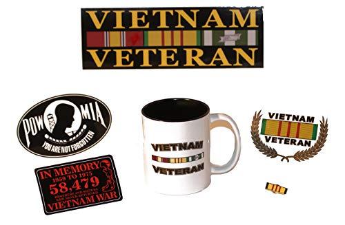 11. Oz Vietnam Veteran Kaffeetasse und Decals/Anstecknadel Geschenk Pack