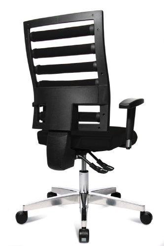 Topstar WO9TT200 Bürodrehstuhl Workout inklusive höhenverstellbare Armlehnen / Bezugstoff schwarz - 4
