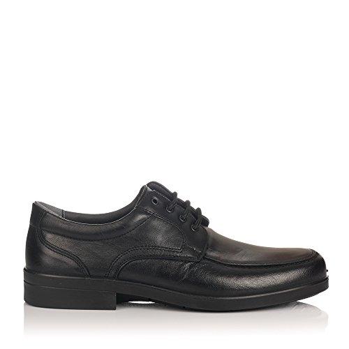 LUISETTI 26851 Zapatos Cordones Piel Hombre Negro