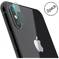 [2 X] G-Hawk® vidrio templado película protectora para iphone X, dureza 9H 2.5D redondeada del borde Fácil de instalar sin burbujas de Cine de vidrio templado [Garantía de por vida]